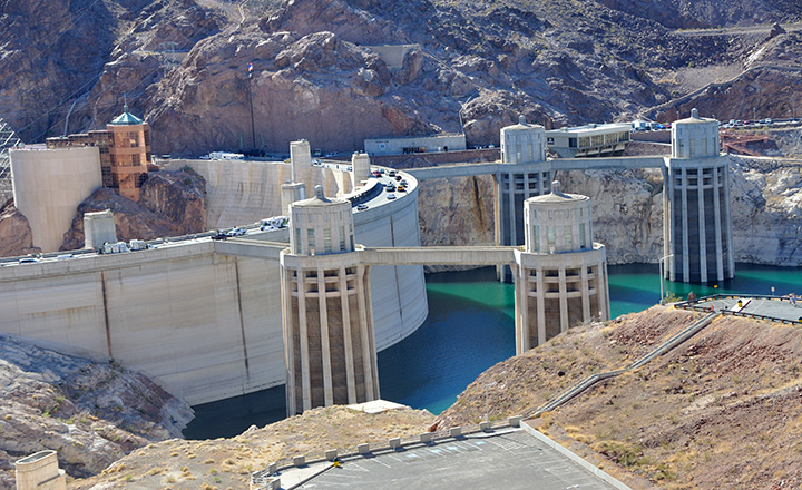 hoover dam photo from Hoover Dam tour viewpoint