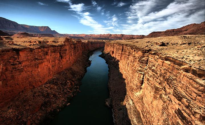 grand canyon west rim photo of Colorado River