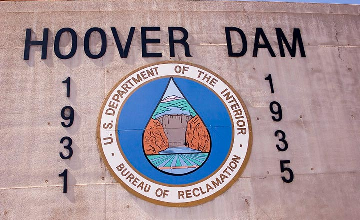 Hoover Dam for USA travelers sign 1931-1935