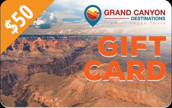 $50 Grand Canyon Destinations Gift Card