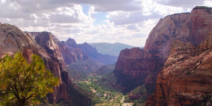 View from Angel's Landing for our Zion National Park Tour